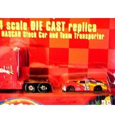 Racing Champions - Ernie Irvin Skittles NASCAR Transporter Set