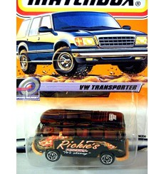 Matchbox 2000 Millennium Logo Chase Series - VW Samba Bus - Richies Pizza Delivery