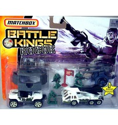 Matchbox - Battle Kings Rogue Set - Jeep Hurricane and Fighter Plane Transporter Truck