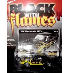 Johnny Lightning Black with Flames 1970 Plymouth GTX