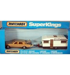 Matchbox Superkings (K-69-8) Jaguar XJ6 & Caravan Trailer
