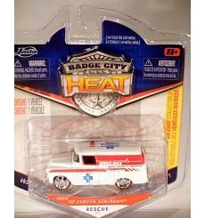 Jada Badge City Heat - 1957 Chevy Suburban EMT Ambulance