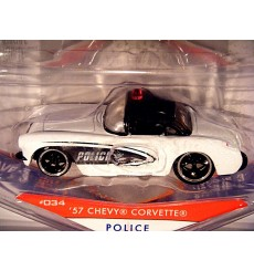 Jada Badge City Heat - 1957 Chevy Corvette Police Car