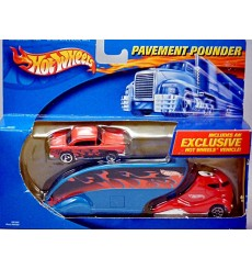 Hot Wheels Pavement Pounders - 1955 Chevy Belair and Transporter