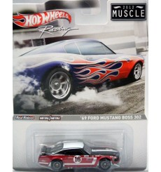 Hot Wheels Racing - 2012 Muscle Series - 1969 Ford Mustang SCCA Race Car