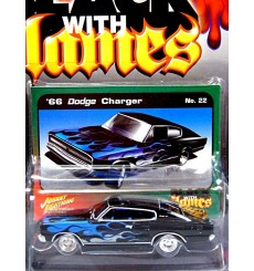 Johnny Lightning Street Freaks - Black With Flames - 1966 Dodge Charger