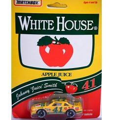 "Matchbox Super Stars Johnny ""Juice"" Smith White House Apple Juice Pontiac Grand Prix"