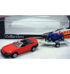 Majorette Trailers Series - Ford Mustang Convertible w/ Sport Motorcycle