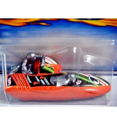Hot Wheels 2001 First Editions Series - Outsider Racing Motorcycle with sidecar