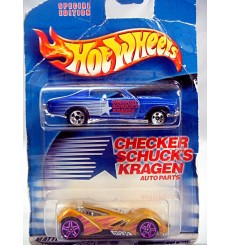 Hot Wheels Promo - Checker Schucks Kragen Auto Parts set with 70 Chevrolet Chevelle SS and Sinistra