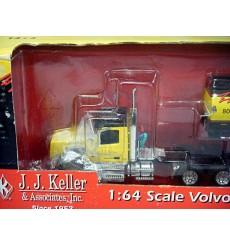 Ertl Diecast Promotions Inc - Rare JJ Keller Volvo VT 800 Day Cab with Heil Fuel Tanker