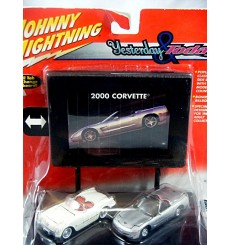 Johnny Lightning - Yesterday and Today Set - Chevrolet Corvette