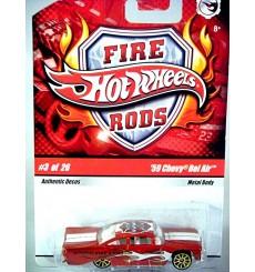 Hot Wheels Fire Rods - 1959 Chevrolet Bel Air 2 Door Post Fire Dept Car