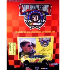 Racing Champions NASCAR 50th Annieversary Jeff Burton Track Gear Ford Taurus