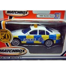 Matchbox - Rare 50th Aniv Logo Chase Car - Ford Falcon Police Car