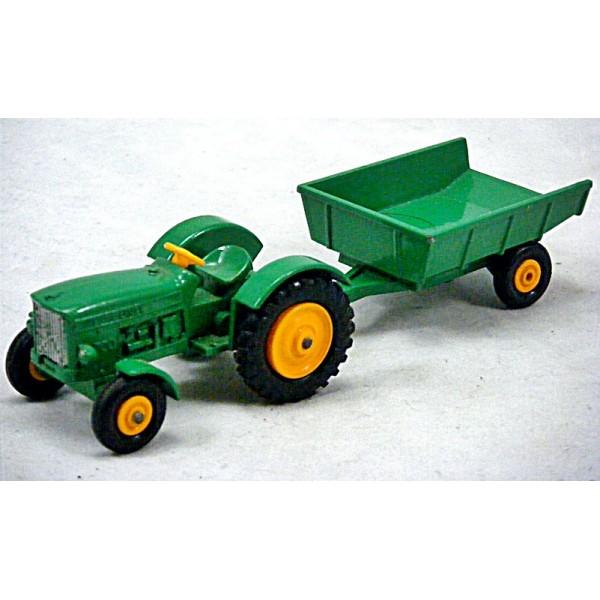 John Deere Matchbox Tractor : Matchbox regular wheels john deere tractor and trailer