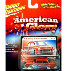Johnny Lightning 1955 Chevrolet 2 Door Post Shoebox