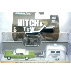 Greenlight Hitch and Tow - 1974 Dodge Monaco and Airstream Bambi Trailer