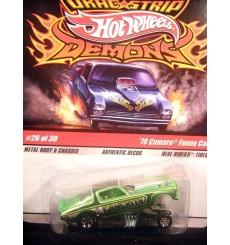 Hot Wheels Dragstrip Demons 1970 Chevy Camaro Gang Green NHRA Funny Car