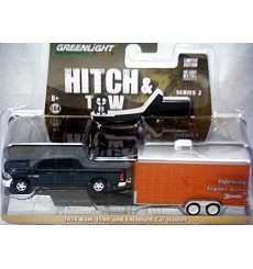Greenlight - Hitch & Tow - 2014 Dodge Ram 1500 Crew Cab with Car Trailer