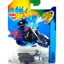 Hot Wheels Color Shifter - Boss Hoss Police Motorcycle - Trike