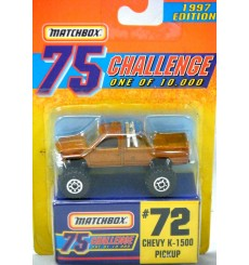 Matchbox Gold Challenge Chevy K1500 4x4 Pickup Truck