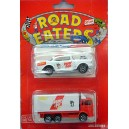 Majorette Road Eaters Set - Peter Pan Peanut Butter Volvo Truck and 57 Chevy