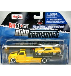 Maisto Elite Transport - Flatbed Tow Truck and 1965 Pontiac GTO