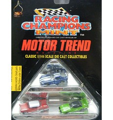 Racing Champions Mint  Set - 1957 Chevy 1950 Ford Shoebox Dodge Viper GTS