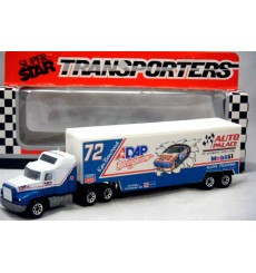 Matchbox NASCAR Super Stars Ken Bouchard ADAP - Auto Palace Race Transporter