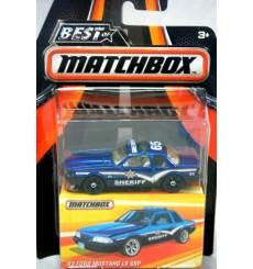 Matchbox - Best of Matchbox - 1993 Ford Mustang LX SSP Police Patrol Car