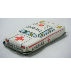 Japanese Postwar Tin Litho Friction Ambulance