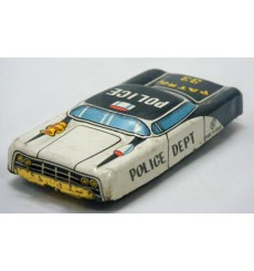 Japanese Postwar Tin Litho Friction Police Car