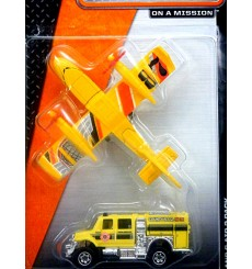 Matchbox - Land and Air Set - International Brushfire Truck and Blaze Blaster Airplane