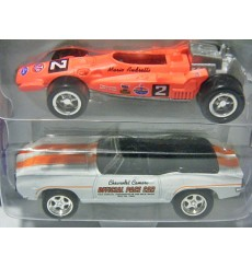 Johnny Lightning Indianapolis 500 Champions Collections: 1969 Chevrolet Camaro Pace Car and 69 Mario Andretti Indy Car