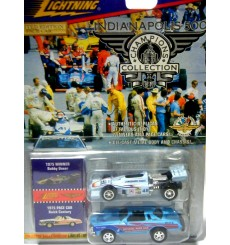 Johnny Lightning Indianapolis 500 Champions set with 1975 Buick Century and 75 Bobby Unser Jorgenson Eagle