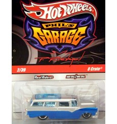 Hot Wheels Phils Garage 1955 Ford Station Wagon - 8 Crate