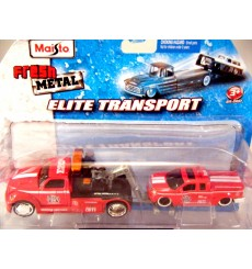 Maisto Elite Transport Fire Department Tow Truck and Ford F150 Pickup Truck