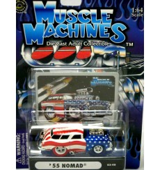 Muscle Machines Stars and Stripes Chase Car - 1956 Oldsmobile 88