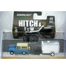 Greenlight Hitch and Tow - 1967 Ford Bronco and Cargo Trailer