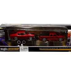 Maisto - Tow & Go - Chevrolet Silverado SS and 1970 Chevy Nova SS Set
