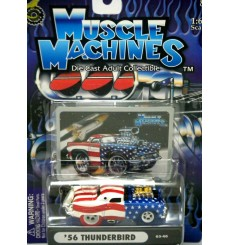 Muscle Machines Stars and Stripes Chase Car - 1956 Ford Thunderbird