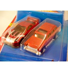 Hot Wheels Speed Challenge set with 55 Chevy Nomad vs Import Tuner