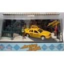 Motor Max American Graffiti Ford Crown Victoria Taxi Diorama