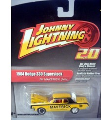 Johnny Lightning 2.0 1964 Dodge 330 Superstock 426 Hemi NHRA Bill Maverick Golden Race Car