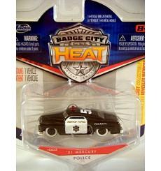 Jada Badge City Heat - 1951 Mercury Police Patrol Car