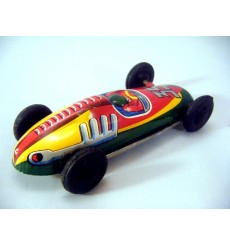 Post WWII Japanese Tin Toy Race Car - 35