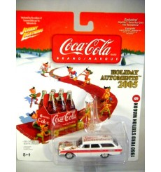 Johnny Lightning 2005 Coca-Cola Automents - 1960 Ford Station Wagon