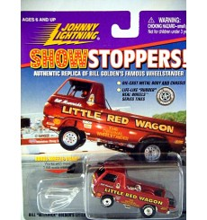 Johnny Lightning Bill Mavericks Little Red Wagon Dodge A 100 NHRA Wheelstander