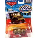 Disney CARS - Sarge Military Jeep - Color Changer